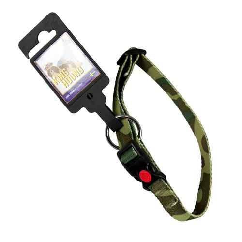 Nylonhalsband med snabb spänne camouflage 15mm x 30-40cm