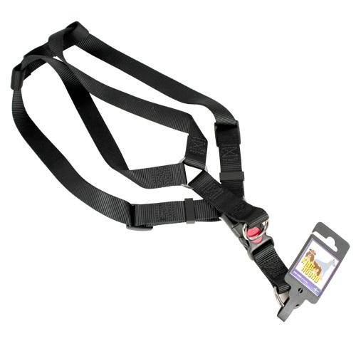 Nylonsele med säkerhetsspänne svart 25mm x 65-100cm