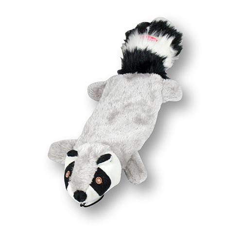 Tvättbjörn i plysch grå/vit