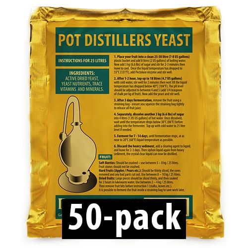 Pot Distillers Turbojäst 18% 50-Pack