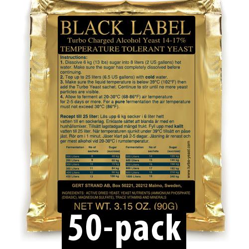 Black Label Turbojäst 14% 50-Pack
