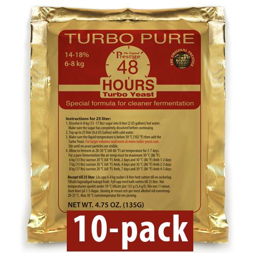 Turbojäst Turbo Pure 48 Hours/18% 10-Pack
