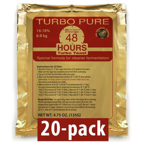 Turbojäst Turbo Pure 48 Hours/18% 20-Pack