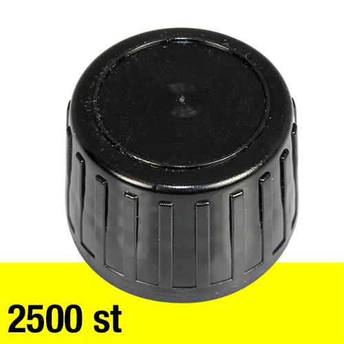 Svart kapsyl 28 mm 2500 st EXKL frakt