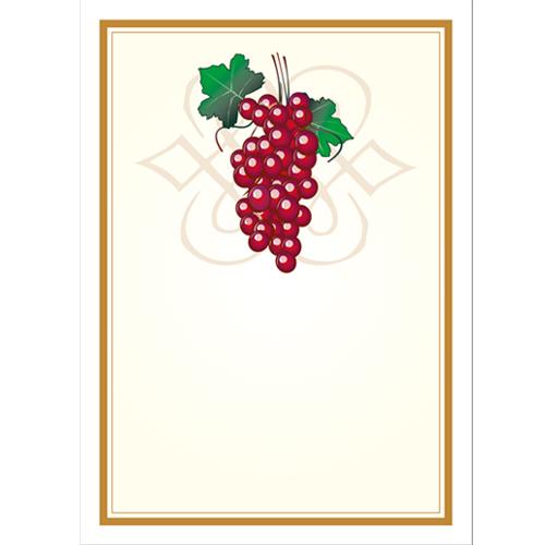 Vinetiketter  Röda vindruvor som motiv nr 4 24 st.
