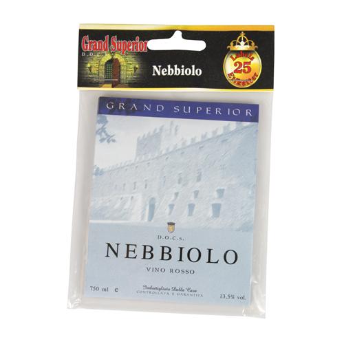 Vinetiketter Nebbiolo Gummerade