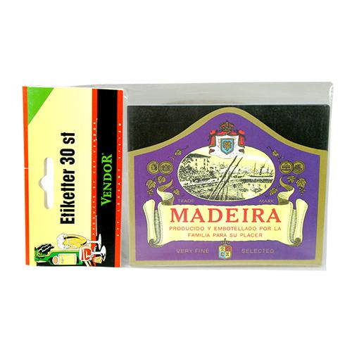 Vinetiketter Madeira 30 st