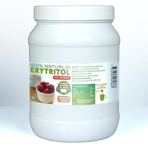 Erytritol sötningsmedel 1 kg burk