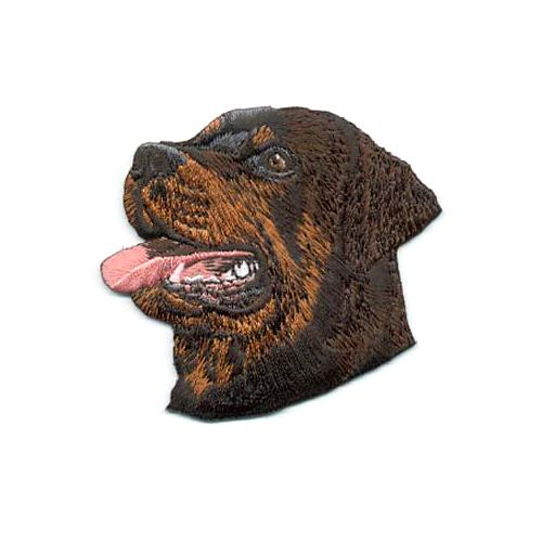 Brodyrmärke Rottweiler head from side without text /dolda rader