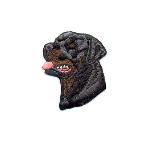Brodyrmärke Rottweiler head without text