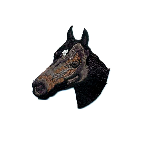 Brodyrmärke Horse black