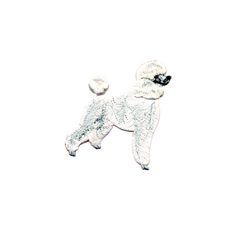 Brodyrmärke Pudel vit/Poodle white