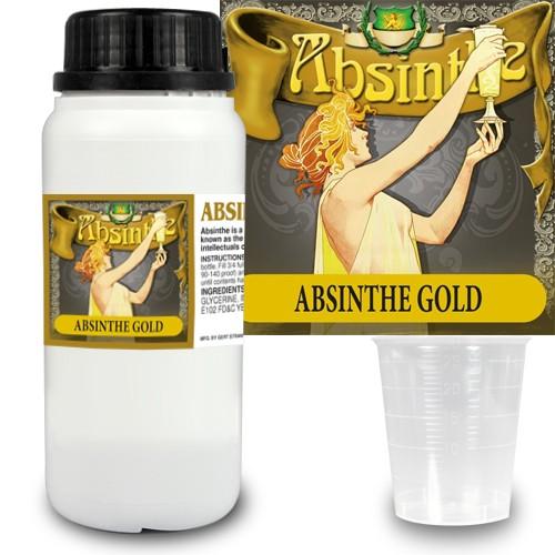 Absint Gold essens 280 ml + 14 absintetiketter och mått