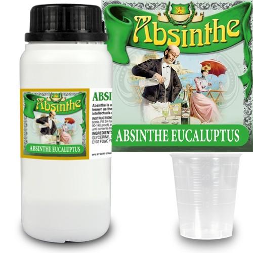 Absint Eukalyptus essens 280 ml + 14 absintetiketter och mått