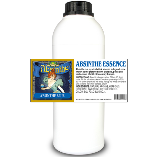 Absint Mint essens 1000 ml mått medföljer