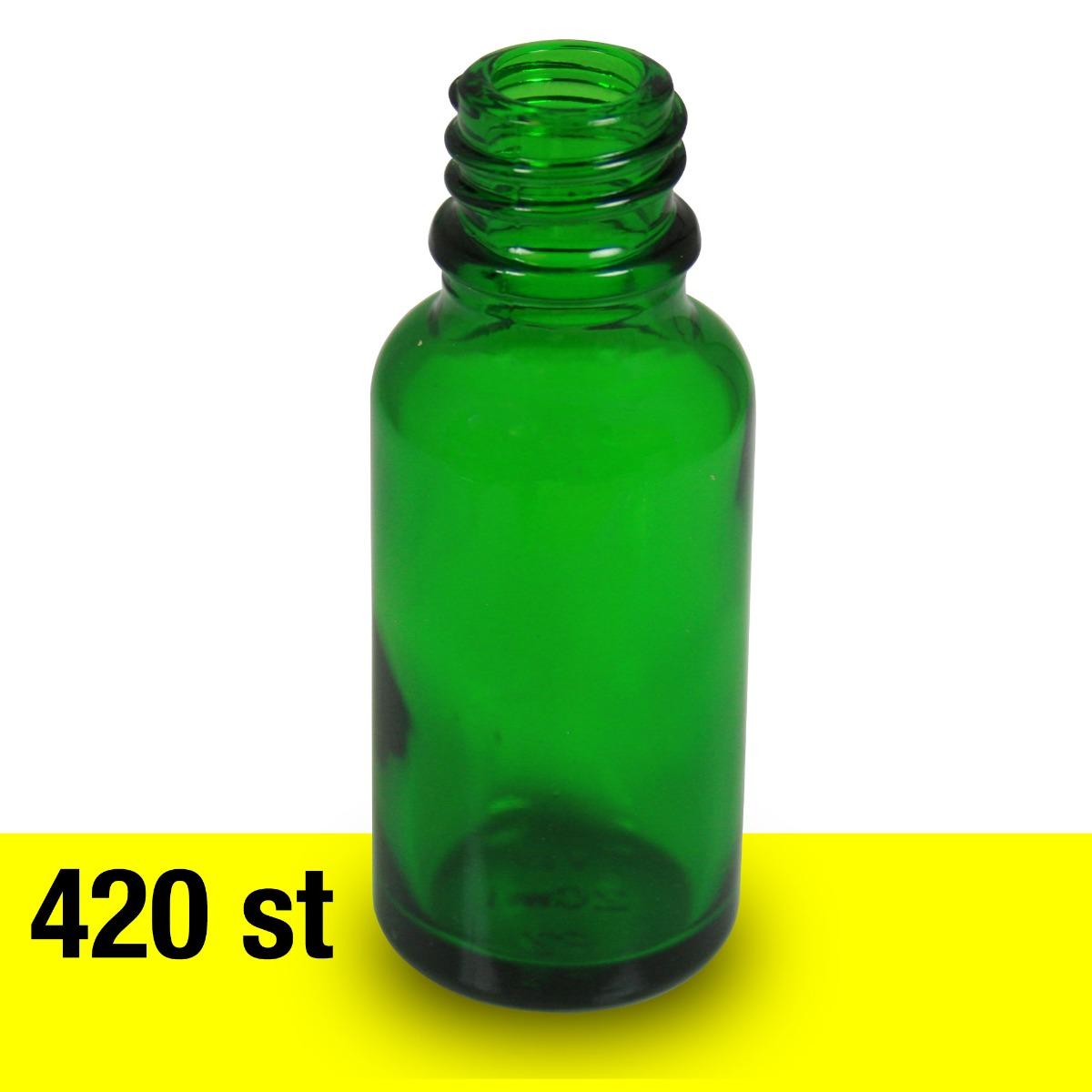 Glasflaska 20 ML grön 420 st