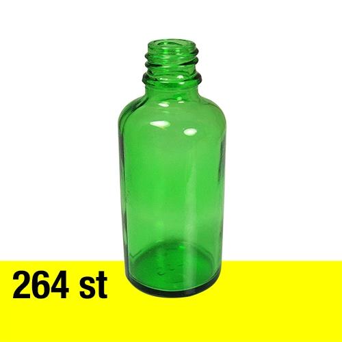 Glasflaska 50 ml grön 264 st med 18 mm gänga
