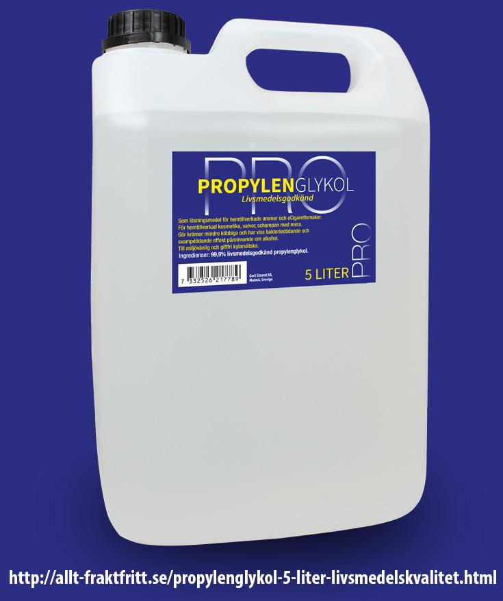 Propylenglykol 5 Liter livsmedelskvalitet